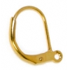 Lever Back With Ring French Earwire Gold